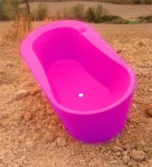 Fritstående badekar plast